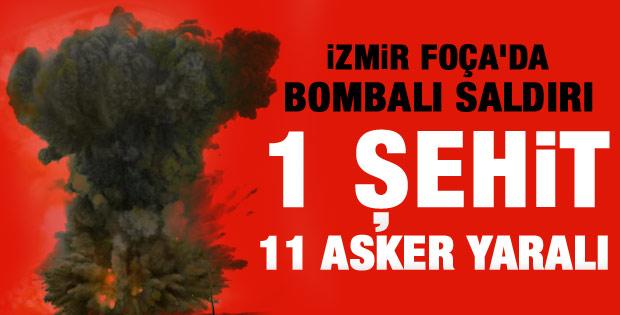 İzmir'de askeri aracın geçişi sırasında patlama
