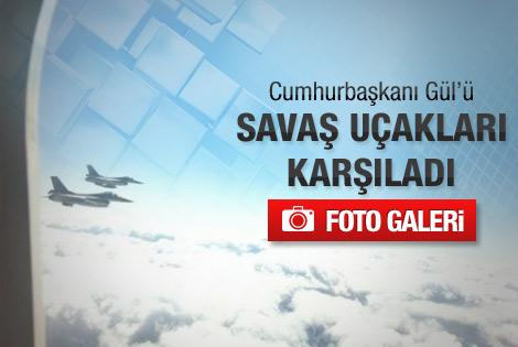 Gül'e jet karşılama - Foto
