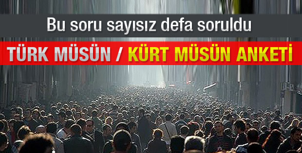 Türk müsün Kürt müsün anketi