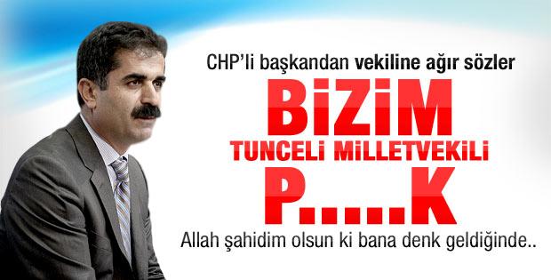 CHP'li belediye başkanı Aygün'e küfretti