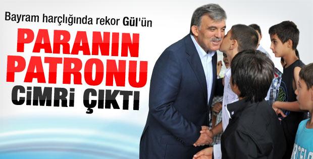 Bayram harçlığı rekoru Abdullah Gül'de