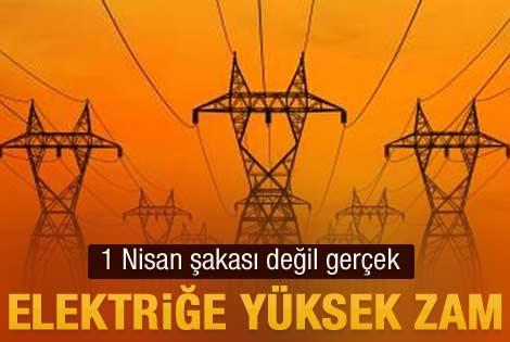 Elektriğe 8.1 oranında zam yapıldı