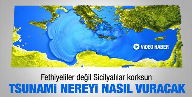 Türkiye'de tsunami olursa nereyi nasıl vuracak - Video