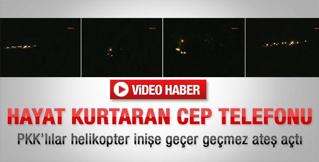 PKK'lılar helikoptere ateş açtı - Video