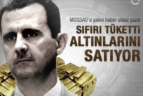 Sıfırı tüketen Beşşar Esad altınları satma derdinde