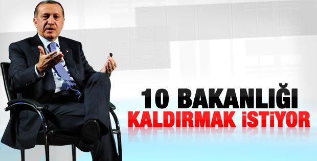 Erdoğan: Keşke bakanlık sayısını 15'e indirebilsek