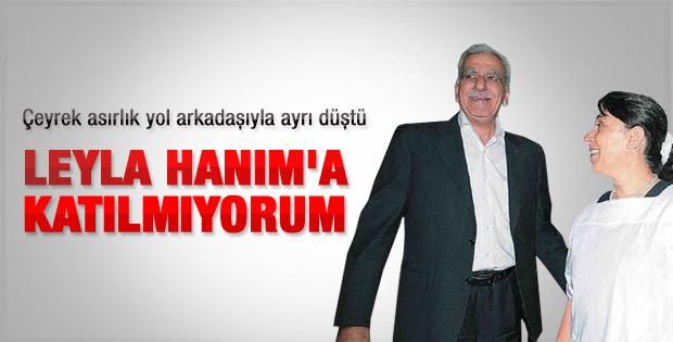 Ahmet Türk'ten Zana'ya tepki
