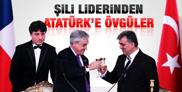 Şili Cumhurbaşkanı'ndan Atatürk'e övgüler