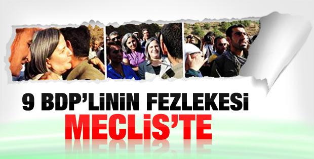 BDP'lilerin fezlekeleri Meclis'e sunuldu