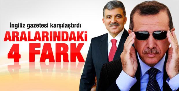 Financial Times Erdoğan ve Gül arasındaki farkları yazdı