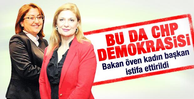 Bakan Şahin'i öven CHP'li başkan istifa etti