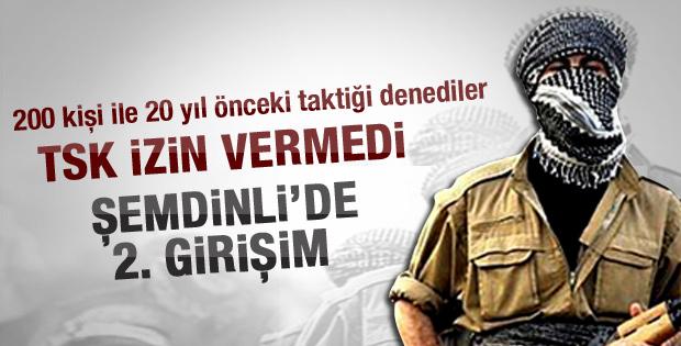 Şemdinli'de PKK'nın 2. girişimi