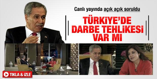 Bülent Arınç'tan Türkiye'de darbe olur mu sorusuna cevap