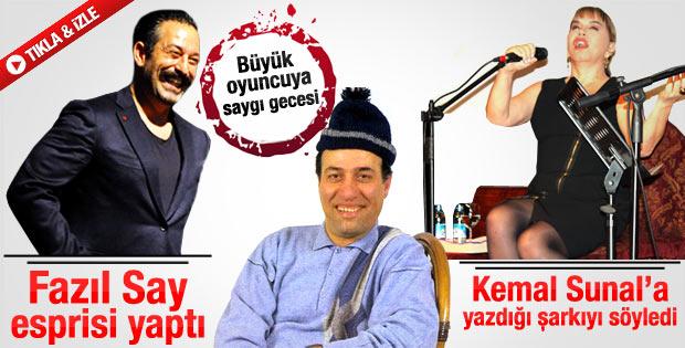 Kemal Sunal gecesine Cem Yılmaz ve Sezen Aksu damgası