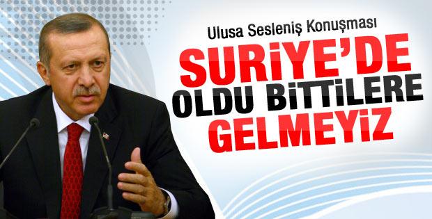 Başbakan Erdoğan ulusa seslendi