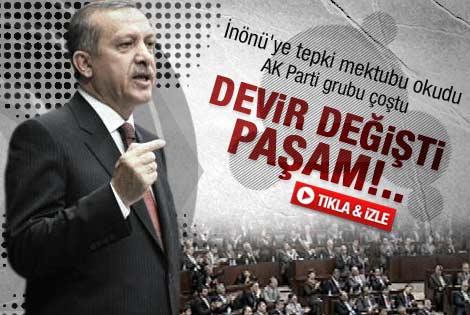 İnönü'ye tepki mektubu AK Parti grubunu coşturdu