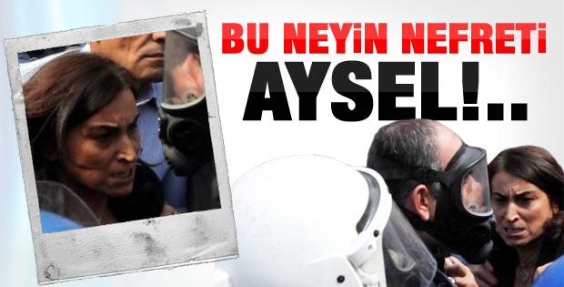 Aysel Tuğluk'un Diyarbakır'daki sinirli halleri