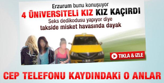 Erzurum'da üniversiteli kıza dayağın görüntüleri