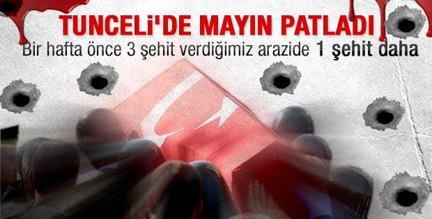 Tunceli'de mayın patladı: 1 asker şehit