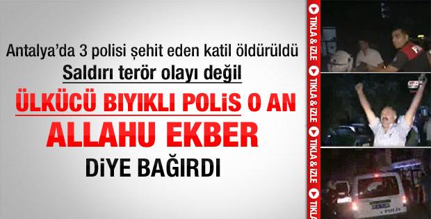 Antalya'daki saldırganın öldürülme anı - izle