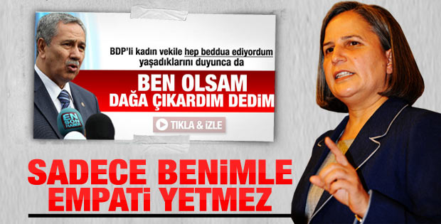 Bülent Arınç'ın bahsettiği o BDP'li Gültan Kışanak çıktı