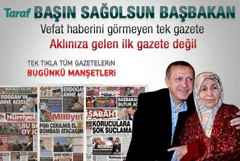 08 Ekim 2011 günün gazete manşetleri