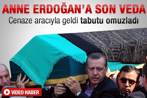 Başbakan Erdoğan annesini uğurladı