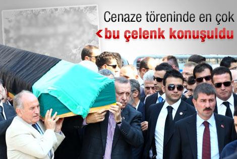Tenzile Erdoğan'ın cenazesinde ilginç çelenk