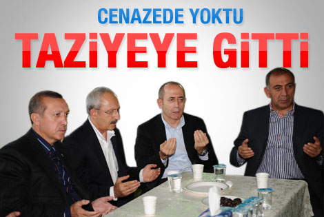 Kılıçdaroğlu Erdoğan'ın evine taziyeye gitti