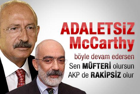 Ahmet Altan'dan Kılıçdaroğlu'na: Adaletsiz McCarthy