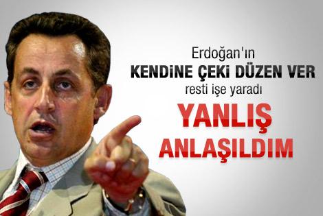 Sarkozy'den Türkiye'ye zeytin dalı
