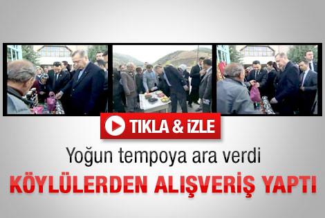 Erdoğan alışverişe çıktı