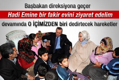 Erdoğan'dan fakir aileye gece ziyareti