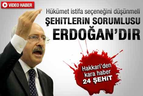 24 şehit sonrası Kılıçdaroğlu'nun açıklaması