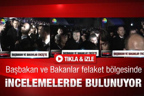 Başbakan Erdoğan ve Bakanlar Erciş'te