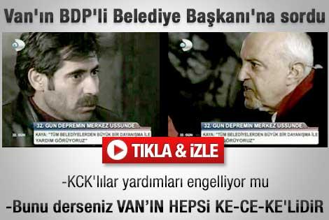 Birand Van'ın BDP'li Başkanı'na KCK iddiasını sordu