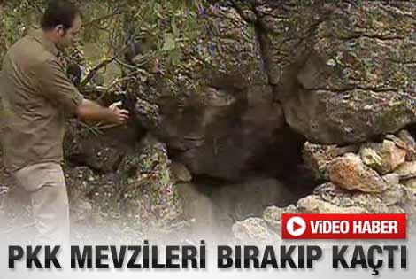 PKK'nın terk edilmiş mevzileri görüntülendi - izle