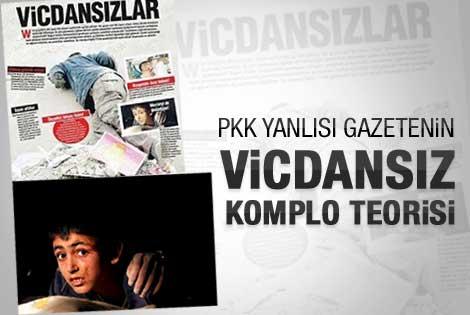 PKK yanlısı gazeteden vicdansızlar manşeti
