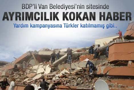 BDP'li Van Belediyesi'nden skandal ayrımcılık