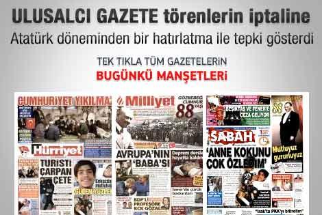29 Ekim 2011 günün gazete manşetleri