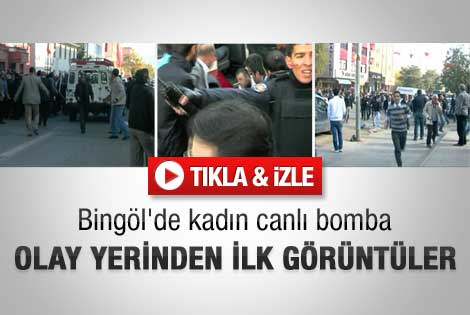 Bingöl'deki canlı bombalı saldırıdan ilk görüntüler