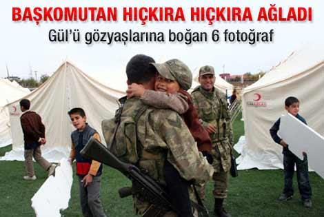 Askerlerin slaytı Abdullah Gül'ü ağlattı