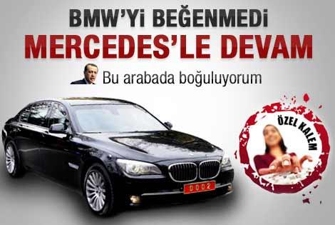 Başbakan Erdoğan Mercedes'e geri döndü
