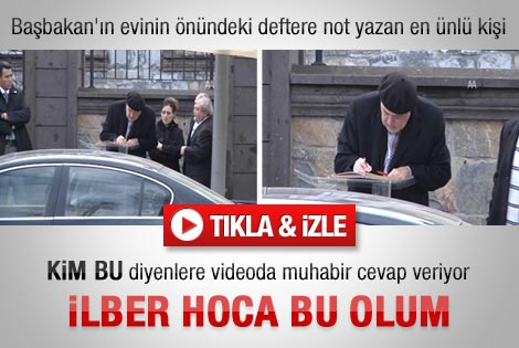Ortaylı Başbakan'ın ziyaretçi defterini imzaladı