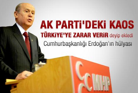 Bahçeli: Cumhurbaşkanlığı Erdoğan'ın hülyası
