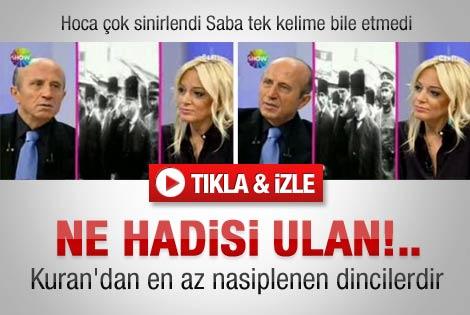 Yaşar Hoca Saba Tümer'le Bugün'de çok sinirlendi