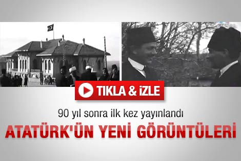 90 yıl sonra yayınlanan Atatürk görüntüleri