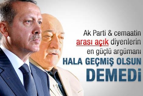 Fethullah Gülen Erdoğan'a geçmiş olsun demedi