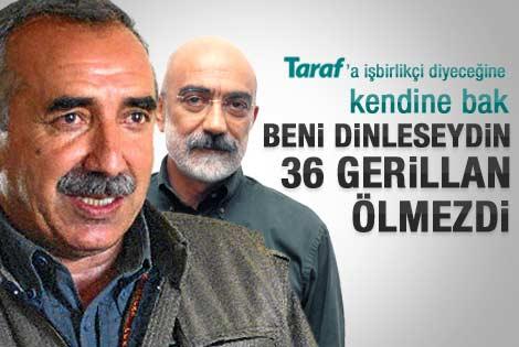 Ahmet Altan Murat Karayılan'a yanıt verdi
