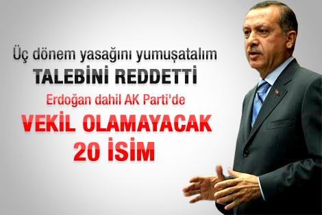 Başbakan Erdoğan üç dönem talebine resti çekti